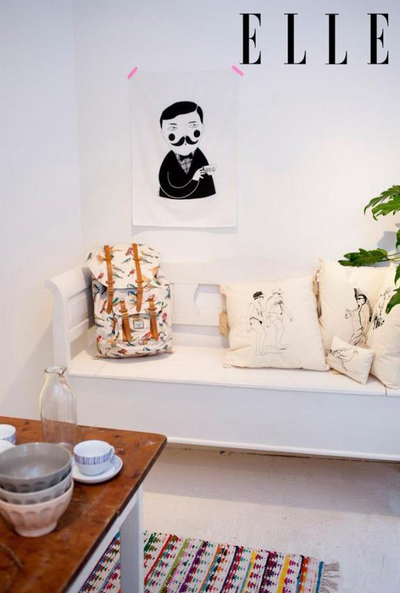 Depeapa Tea Towel in Elle magazine (Holland)