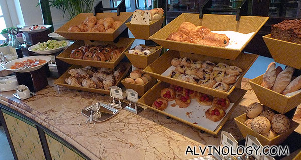 Bread and pastry selection