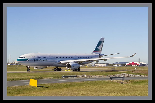 Cathay Pacific A330-200  taxing Brisbane 19=