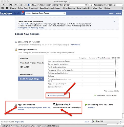 Facebook Privacy Settings by WilliamBanzai7/Colonel Flick