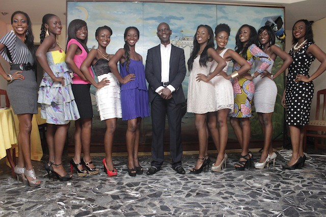 Uncle Ebo meets Miss Ghana 2013 finalists (3)