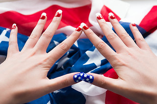 July 4th Nails - 5