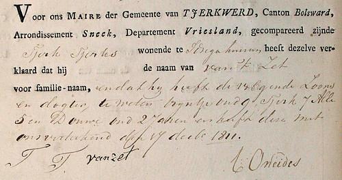 1811 Van 't Zet - Tjerk Tjerks