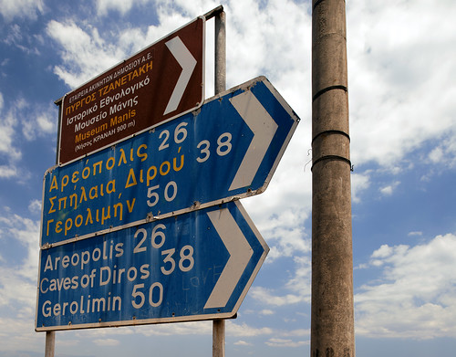 Greek Road Signs
