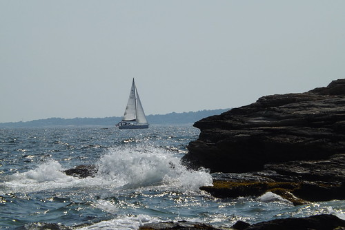 Sailboat and splash