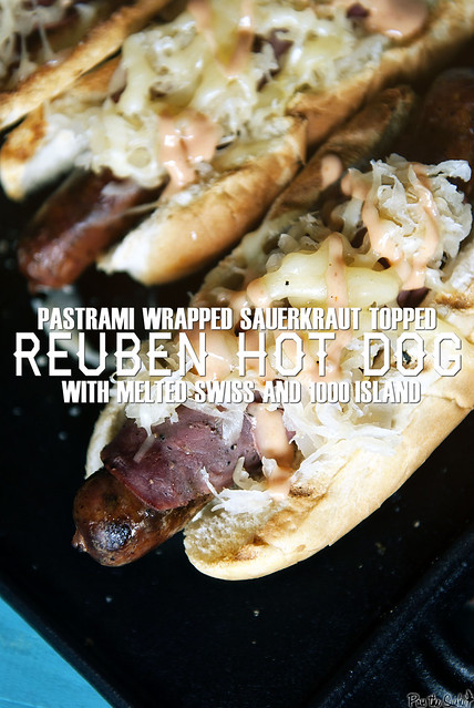 Reuben Hot Dogs via GirlCarnivore.com