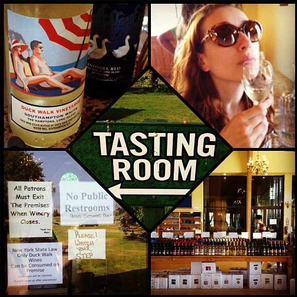 Wine tasting at Duck Walk Vineyards in the Hamptons