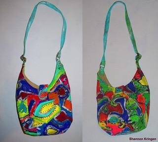 painted purse by Shannon Kringen KringWEAR