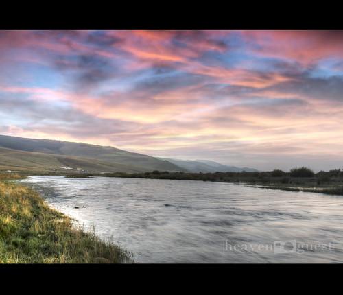 sunset sunrise canon river mongolia t3 hdr gol autmn photomatix tuul 1100d heavenguest