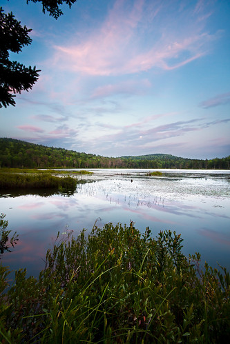 sunset summer sky reflection nature water clouds forest landscape evening pond woods day hiking newengland newhampshire nh hike clear trail gilford roundpond stateforest belknapmountainstateforest cliffordphotographynhcom