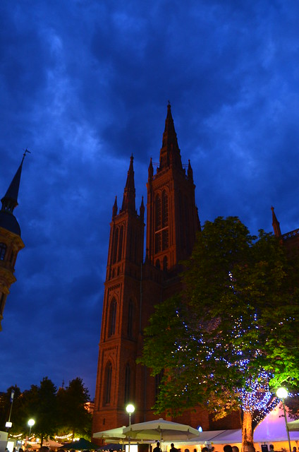 Wiesbaden Wine Fest 2013 Marktkirche Night