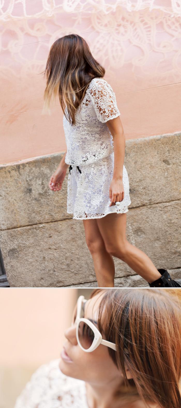 street style barbara crespo sheinside crochet dress sendra fringes boots outfit