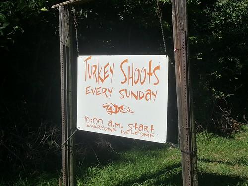 Turkey Shoots Every Sunday