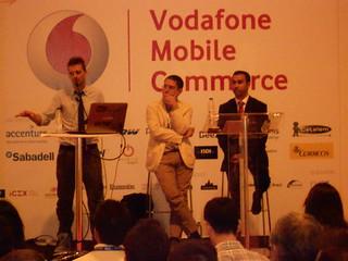 Presentación del Estudio Mobile Marketing - De izquierda a derecha: Javi Clarke, Felipe Romero y Daniel Shaikh