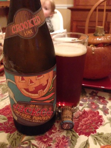 Uinta Brewing Company Crooked Line Oak Jacked Imperial Pumpkin Aged in Oak Barrels (2012)