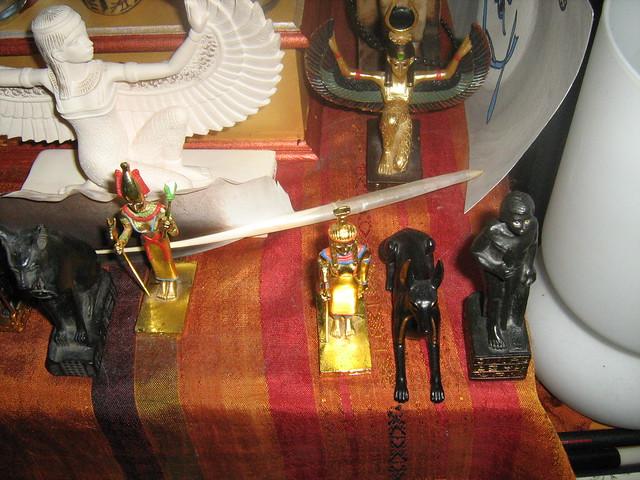 Netjeru Shrine - Nebthet, Yinepu, and soldier