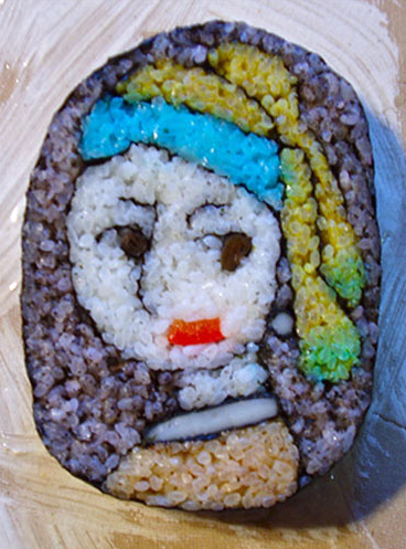 Takayo Chiyota, aka Tama-chan, Girl with a Pearl Earring, sushi art