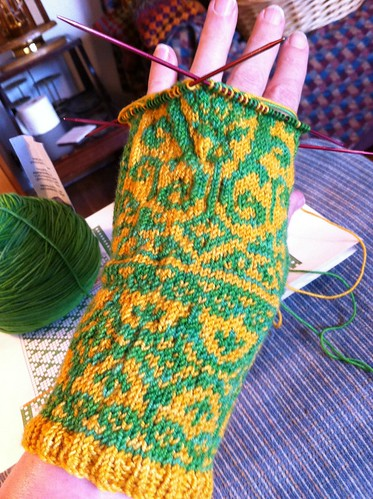 Le Joie du Printemps first mitten by BlueDragon2