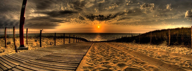 Beautiful Beach Sunset Facebook Cover Photo