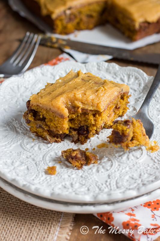 Pumpkin Caramel Pecan cake with Pumpkin Buttercream Frosting-8921