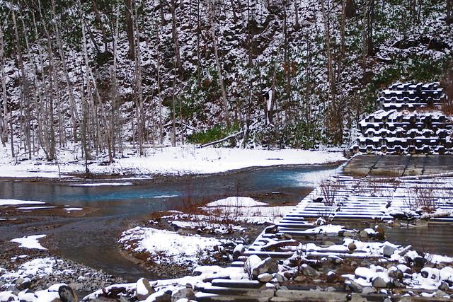 初冬の美瑛川