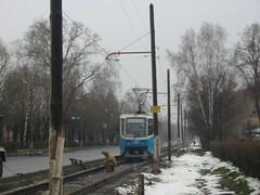 Noginsk tram track repair 2003
