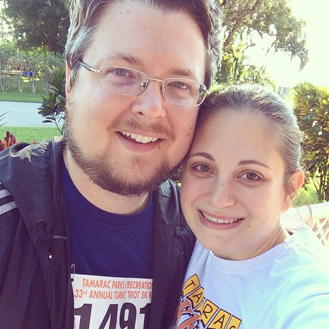 Adrian (@explorerziem) and I together after our run! #5k #running #tamarac #turkeytrot #thanksgiving