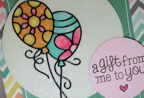 Glitter Balloons Card 2