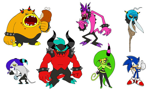 Sonic Lost World - Character Concept Art