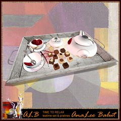 ALB TIME TO RELAX teatime set w pralines by AnaLee Balut