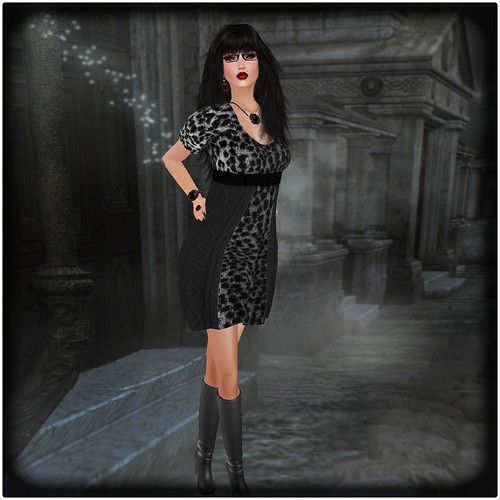 AsHmOoT_AW Coll_Betty_Dress_Cheeta grey by Orelana resident