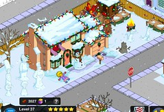X-mas Simpsons house