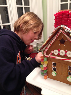 Gingerbread house in the works