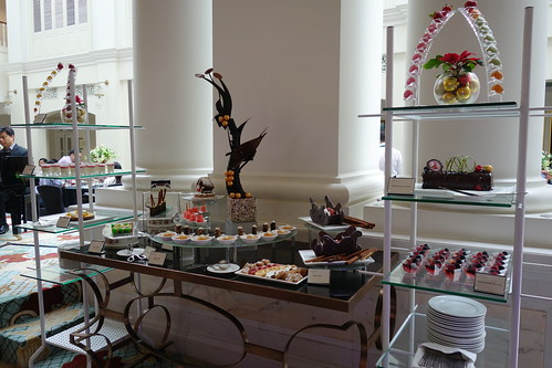 Part of the dessert spread at InterContinental Singapore's Sunday Champagne Brunch
