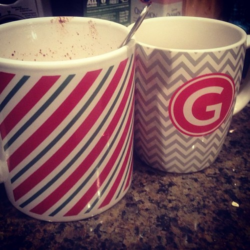 Merry Christmas! Hot chocolate and gingerbread tea are happening this morning! #christmas #beverages