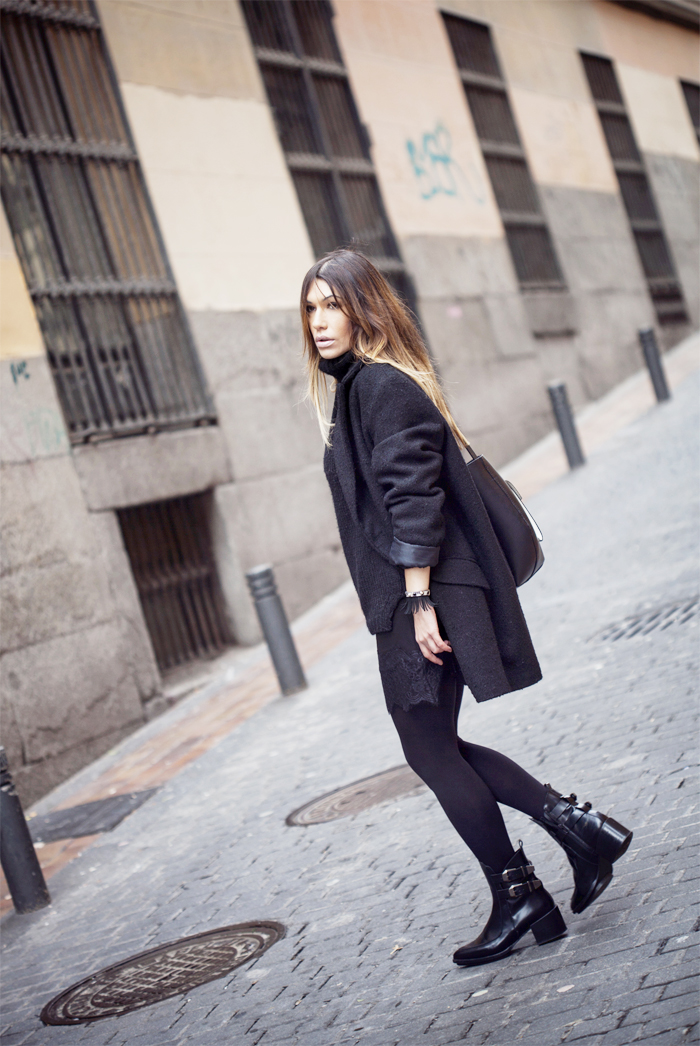 street style barbara crespo black is the new black fashion blogger outfit