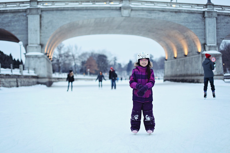 skating on the rideau canal - afternoon