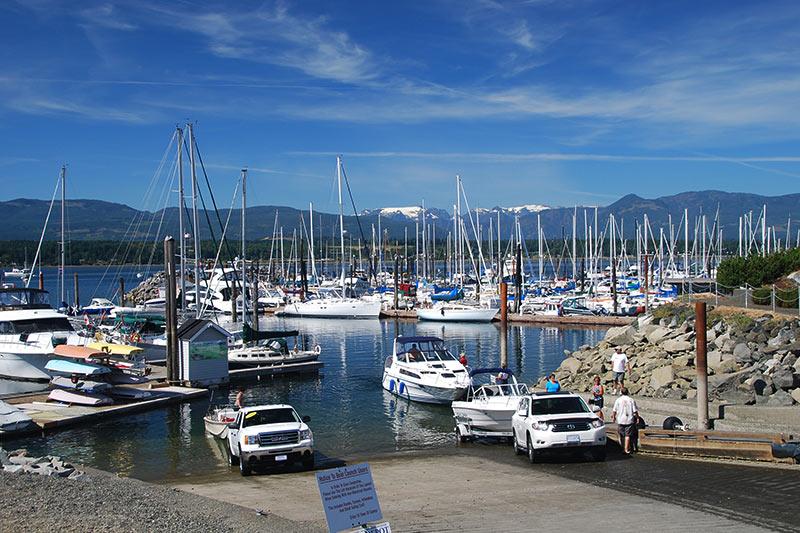 Comox Waterfront Harbour, Comox, Vancouver Island, British Columbia, Canada.