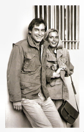 Timothy Dalton and Maryam d'Abo in The Living Daylights