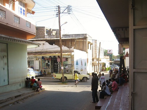 street car shop cyclist traffic kenya balcony malindi kenol
