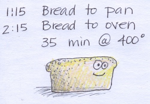 bread notes by Bricoleur's Daughter