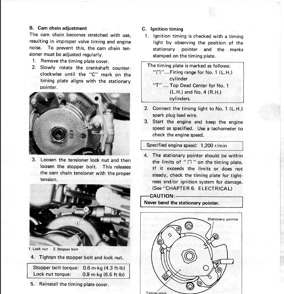 81 Xj650 Timing Chain Question Xjbikes Yamaha Xj Motorcycle Forum Wiring Diagram Here Is The Proper Procedure For A Xj550