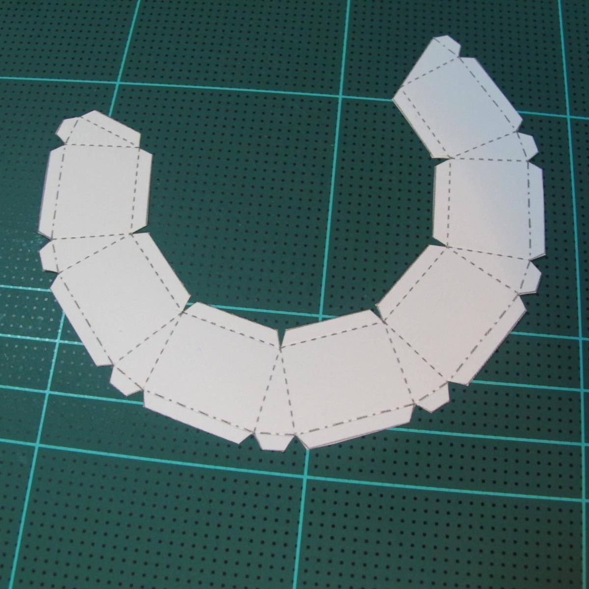 วิธีทำของเล่นโมเดลกระดาษรูปพระอาทิตย์ยิ้ม (Smiling Sun Paper Craft Model) 005