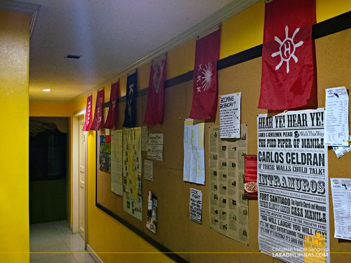 The Bulletin Board at Manila's Red Carabao Hostel