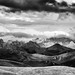 Bayan Har Mountains Panoramic B&W by James Yu Photography