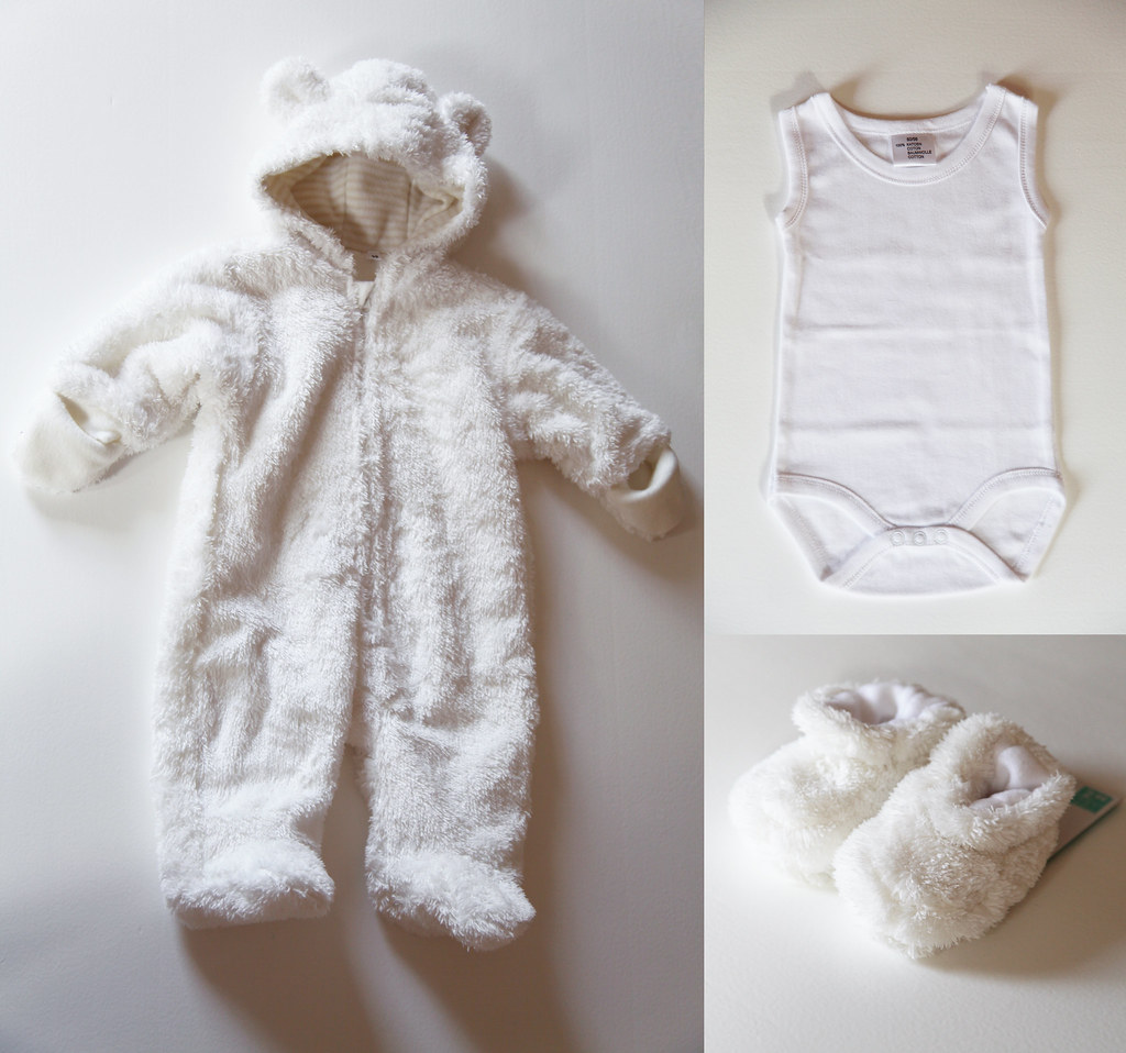 baby clothes stuff purchase gender neutral colors white winter coat socks shoes slippers animal bear ears soft plush