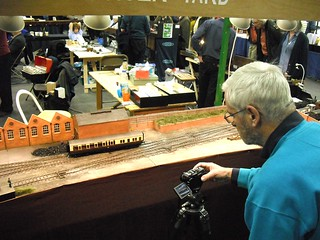Ian Rathbone photographs models on my layout