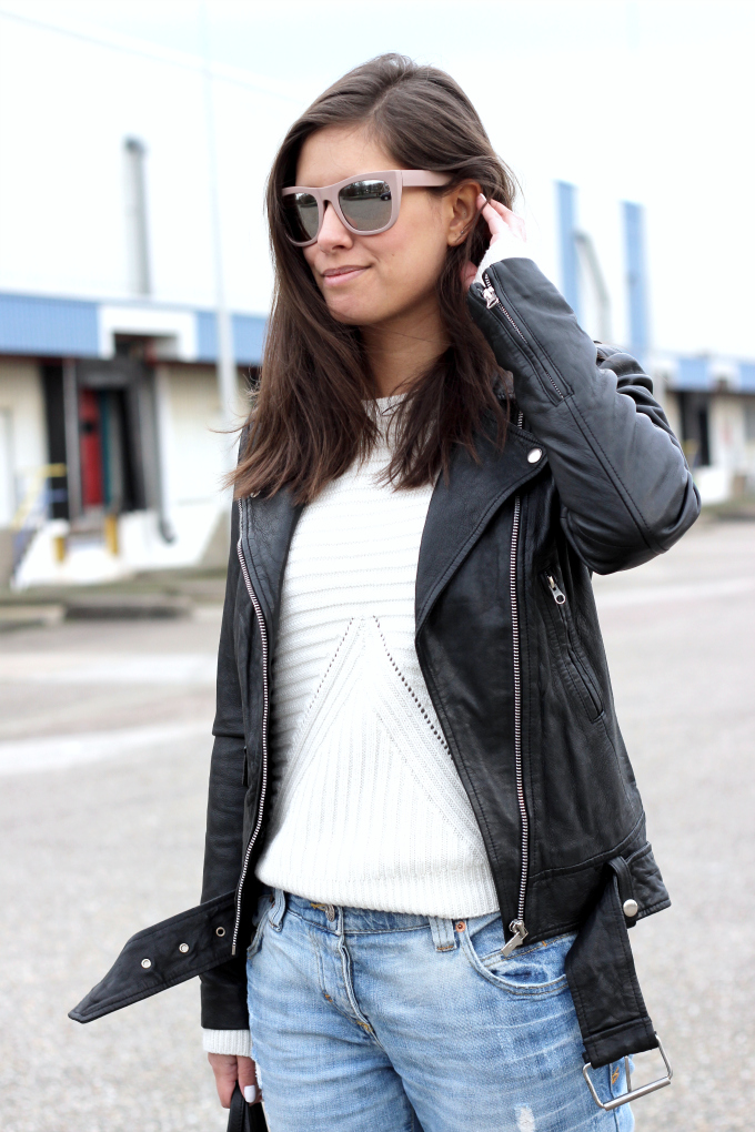 Acne mape look a like leather jacket