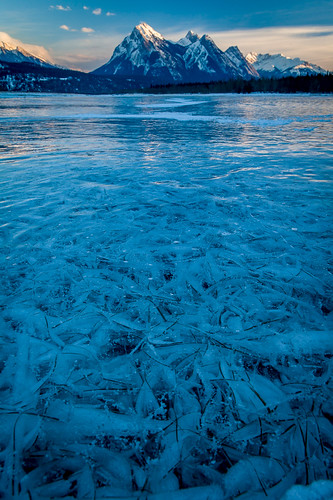 blue winter sunset lake canada cold ice grass frozen workshop alberta abrahamlake clearwatercounty