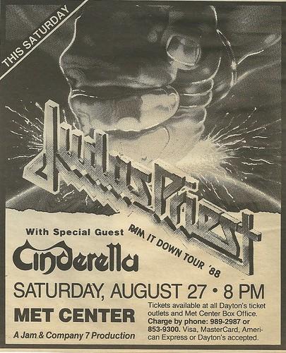 08/27/88 Judas Priest/ Cinderella @ Met Center, Bloomington, MN